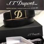 S.T.Dupont皮帶-01 特價都彭男士鈀金板扣原單小牛皮皮帶