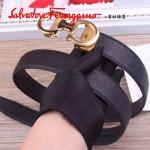 Ferragamo皮帶-013  菲拉格慕專櫃新款男士金扣原版牛皮皮帶
