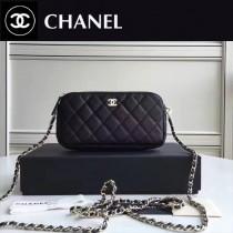 CHANEL 31038-2 最新款雙拉鏈小包內置8個卡位女士單肩包