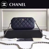 CHANEL 31038 最新款雙拉鏈小包內置8個卡位女士單肩包