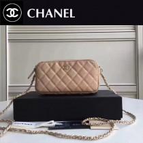 CHANEL 31038-3 最新款雙拉鏈小包內置8個卡位女士單肩包