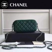 CHANEL 31038-1 最新款雙拉鏈小包內置8個卡位女士單肩包