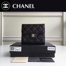 CHANEL 82288 Wallet系列最新款原版皮女士折疊式短夾