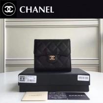 CHANEL 82288-1 Wallet系列最新款原版皮女士折疊式短夾