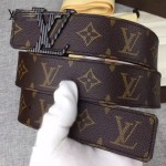 LV皮帶-018-2 路易威登新款男士字母扣原單小牛皮皮帶腰帶