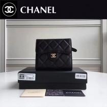 CHANEL 82288-2  Wallet系列最新款原版皮女士折疊式短夾