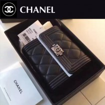 CHANEL 80734-2 BOY系列最新款原版皮時尚女士短夾