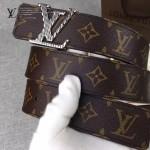 LV皮帶-018 路易威登新款男士字母扣原單小牛皮皮帶腰帶