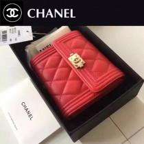 CHANEL 80734-1 BOY系列最新款原版皮時尚女士短夾