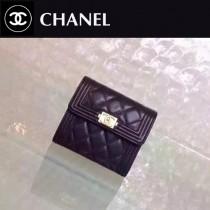 CHANEL 80734  BOY系列最新款原版皮時尚女士短夾