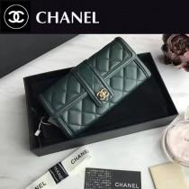 CHANEL 84019-1 新款原版綿羊皮女士拼色錢包長款