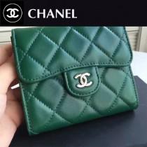CHANEL 82288-4 Wallet系列最新款原版皮女士折疊式短夾