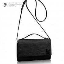 LV M54537 春夏新品Cléry黑色水波紋原版皮單肩斜挎包