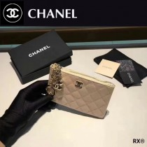 CHANEL 0517 人氣熱銷時尚新款原版皮女士單拉鏈零錢包