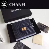 CHANEL 0520-2 人氣熱銷時尚新款原版皮3折V格短夾