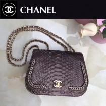 CHANEL A98774-4 大蟒蛇皮包包進口蟒蛇皮配24K進口五金內配皮女士單肩包