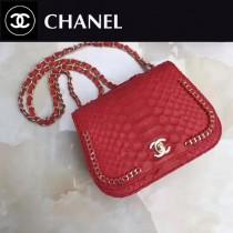 CHANEL A98774-5 大蟒蛇皮包包進口蟒蛇皮配24K進口五金內配皮女士單肩包