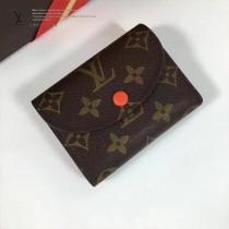 LV M60253-6 最新經典款HÉLÈNE橘色內裡原版皮三折豆豆錢包