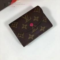 LV M60253-7 最新經典款HÉLÈNE紫紅色內裡原版皮三折豆豆錢包