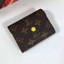 LV M60253-9 最新經典款HÉLÈNE嫩黃色內裡原版皮三折豆豆錢包
