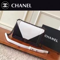 CHANEL 0544-2 專櫃最新LEBOY拼色系列原版皮單肩斜挎包