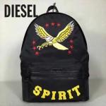 DIESEL-001 迪賽新款男士飛鷹刺繡尼龍面料雙肩包書包
