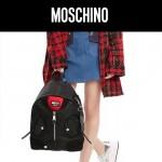 MOSCHINO-0011 莫斯奇諾機車夾克設計原廠尼龍面料雙肩包背包