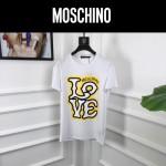 MOSCHINO-0017 莫斯奇諾春夏新款情侶款字母塗鴉印花短袖T恤