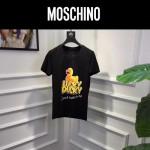 MOSCHINO-0010-2 莫斯奇諾春夏新款情侶款原版小黃鴨圖案短袖T恤