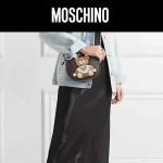 MOSCHINO-003-3 莫斯奇諾女士黑色可愛泰迪小熊單肩斜挎包