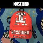 MOSCHINO-0012 莫斯奇諾專櫃走秀楊冪同款個性印花雙肩包書包