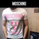MOSCHINO-0021 莫斯奇諾專櫃最新款男士火烈鳥印花短袖T恤