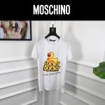 MOSCHINO-0010 莫斯奇諾春夏新款情侶款原版小黃鴨圖案短袖T恤