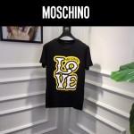 MOSCHINO-0017-2 莫斯奇諾春夏新款情侶款字母塗鴉印花短袖T恤