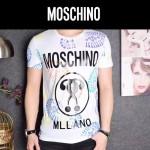 MOSCHINO-0021-2 莫斯奇諾專櫃最新款男士火烈鳥塗鴉印花短袖T恤