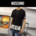 MOSCHINO-0022 莫斯奇諾官網新款原單字母印花貼標膠印短袖T恤