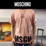 MOSCHINO-0022-2 莫斯奇諾官網新款原單字母印花貼標膠印短袖T恤