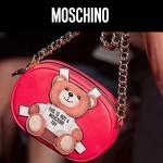 MOSCHINO-003-2 莫斯奇諾女士可愛泰迪小熊單肩斜挎包