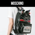 MOSCHINO-005 莫斯奇諾專櫃限量版蒙面俠雙肩包書包