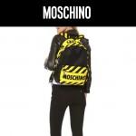 MOSCHINO-0019 莫斯奇諾潮流個性警告標語減速帶雙肩包書包