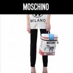 MOSCHINO-0020 莫斯奇諾明星走秀款奶牛煙盒雙肩包書包