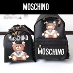 MOSCHINO-0018-2 莫斯奇諾人氣爆款泰迪小熊圖案迷你雙肩包書包