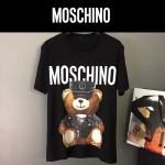 MOSCHINO-0015 莫斯奇諾春夏系列小熊字母印花短袖T恤