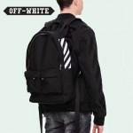 OFF-WHITE-003 時尚經典款側邊白杠原版帆布材質雙肩包書包