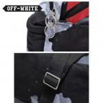OFF-WHITE-005 潮人必備紅色斜杠搭配渲染效果防水面料雙肩包