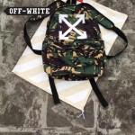 OFF-WHITE-005-3 潮人必備迷彩箭頭搭配渲染效果防水面料雙肩包
