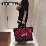 OFF-WHITE-004 吳亦凡同款紅杠渲染原版帆布材質手提單肩包