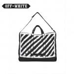 OFF-WHITE-002 潮人必備渲染工藝款原單白杠加厚帆布手提單肩包購物袋
