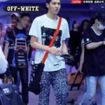 OFF-WHITE-001 吳亦凡同款男女通用字母帆布包手提斜挎包