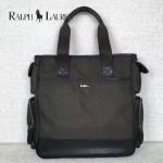 RALPH LAUREN-002 時尚休閒原單尼龍面料配牛皮手提單肩包